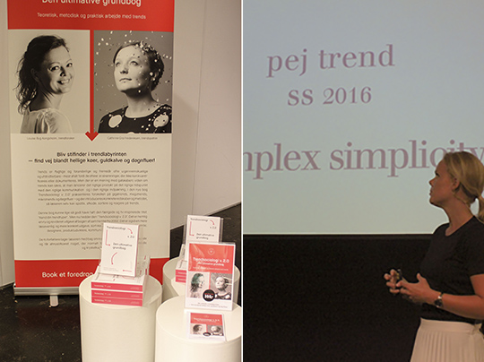 Upcoming fashion trends, next generation physical shops, Pantone colors and storytelling by  Pernille Kirstine Møller.